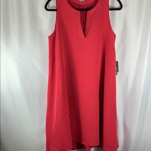 Adrianna Papell Red Shift Dress